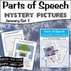 Parts of Speech Mystery Pictures- January Set 1