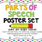 Parts of Speech Polka Dot Posters