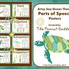 Parts of Speech Posters (Artsy Sea/Ocean Theme)