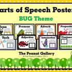 Parts of Speech Posters (Bug Theme)
