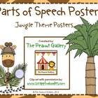 Parts of Speech Posters (Jungle/Animal/Safari Theme)