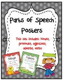 Parts of Speech Posters:Rainbow Fun