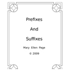 Parts of Speech, Prefixes, and Suffixes (revised)