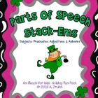 Parts of Speech Review Game (Saint Patrick's Day Themed)