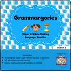 Parts of Speech Review: Grammargories Activity FREEBIE