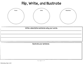 Parts of Speech Sort, Flip, and Write!