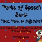 Parts of Speech Sorting Center (Nouns, Verbs, & Adjectives)
