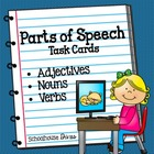 Parts of Speech Task Cards (2nd - 4th)