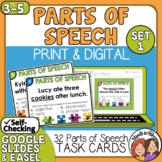 Parts of Speech Task Cards: 32 Multiple Choice Cards (Set 1)