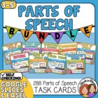 Parts of Speech Task Cards: 8 Set Bundle (CCSS Aligned)