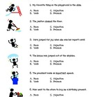 Parts of Speech Test Prep Worksheet: Nouns, Verbs, Adjecti