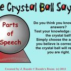 Parts of Speech - The Crystal Ball Says ...