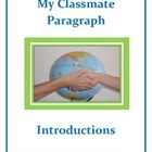 Parts of Speech and Paragraph Writing: My Classmate Paragraph