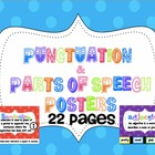 Parts of Speech and Punctuation Posters - Polkadot themed