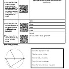 Parts of a Circle Activity Using Smart Phones/iPad/IPods