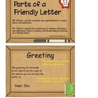 Parts of a Friendly Letter Flipchart