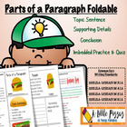 Parts of  a Paragraph Sandwich Foldable