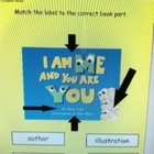 Parts of a book cover SMARTboard lesson