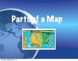 Parts of a map power point