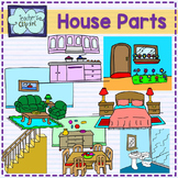 Parts of the house clip art