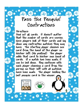 Pass the Penguins! Contractions