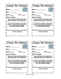 Pass to Nurse - Printable.  Send students to the nurse wit