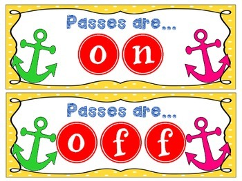 Passes are ON! Sign