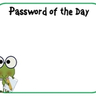 Password of the Day - Frog Themed