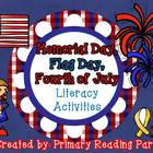 Patriotic Holidays Literacy Activities {Memorial Day, Flag