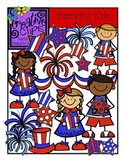 Patriotic Kids {Creative Clips Digital Clipart}