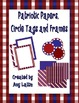 Patriotic Papers, Circle Tags, and Frames - Freebie