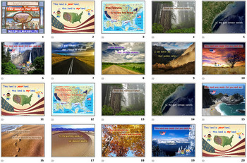 Patriotic Powerpoint Presentations Pack 2 (collection of 3)