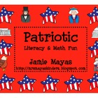 Patriotic President&#039;s Literacy &amp; Math Fun!