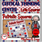 Patriotic Squares Critical Thinking