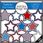 Patriotic Star Frames {Graphics for Commercial Use}