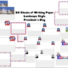 Patriotic Writing Sheets President's & Memorial Day {Washi