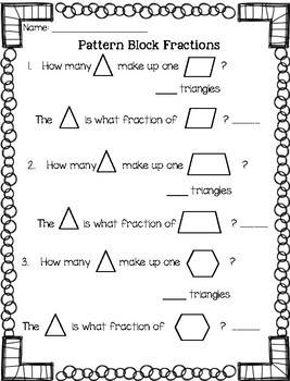 Pattern Block Fractions