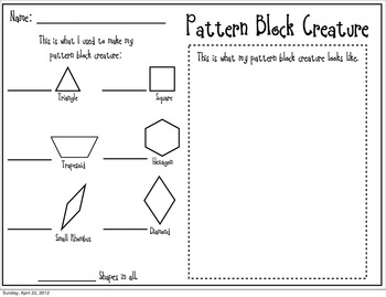 Pattern Block Freebie