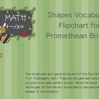 Pattern Block Vocabulary