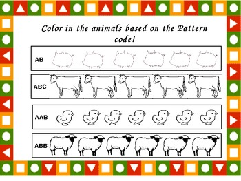 Pattern Play in Kindergarten