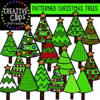 Patterned Christmas Trees {Creative Clips Digital Clipart}