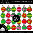 Patterned Ornaments 1 {Graphics for Commercial Use}