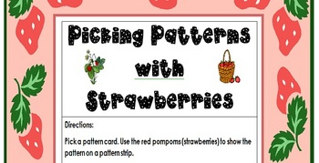 Patterning, Math Workstation, Strawberry Theme
