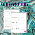 Patterns Assessment - CCSS