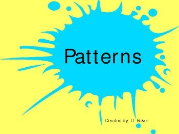 Patterns Power Point Presentation