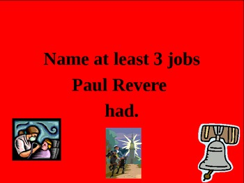 Paul Revere Jeopardy