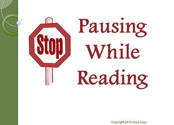 Pausing While Reading Strategy PowerPoint