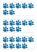 Paw Print Ten Frame Cards