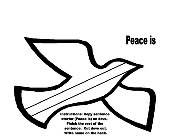 Peace Is (Dove Template)