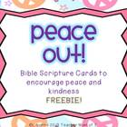 Peace Out! Christian Bible Quotes Activity for Martin Luth